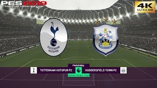 PES 2019 (PC) Tottenham vs Huddersfield | REALISTIC PREMIER LEAGUE PREDICTION | 13/4/2019 | 4K 60FPS