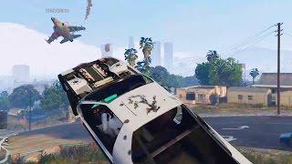 How to Kill a HYDRA 101-Grand Theft Auto V(GTA 5) with Ruiner 2000!