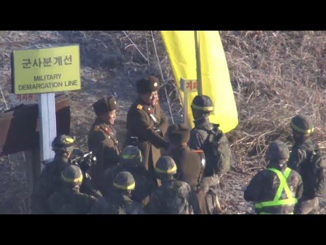 North & South Korean troops cross borders in peace
