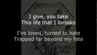 Metallica - Harvester Of Sorrow Lyrics (HD)
