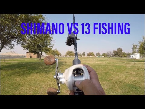 13 Fishing Concept C vs. Shimano Curado 70: Casting Battle