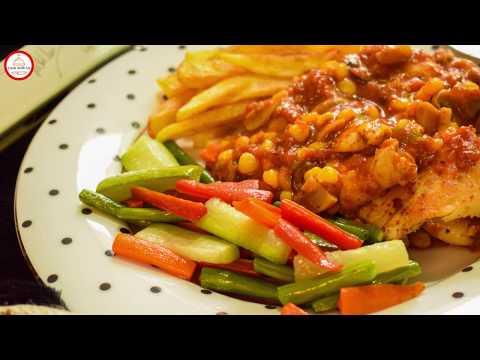 Chicken Steak Recipe   How To Cook Chicken Steak With Spicy Sauce   Cook With Us