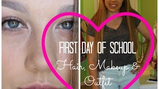 First Day of School ❁ Hair, Makeup & Outfit! Thumbnail