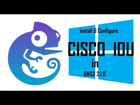 Install and configure  Cisco IOU  in GNS3 2.1.0