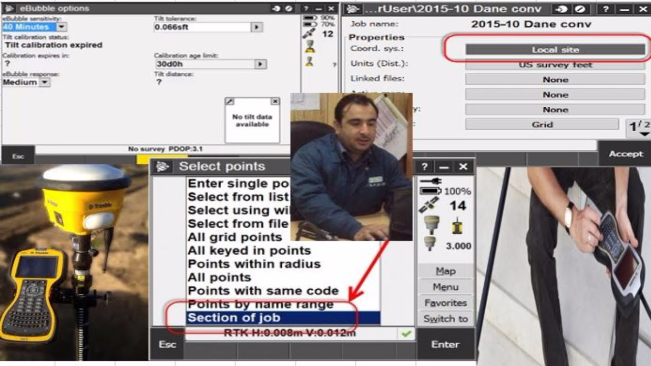 How to Import Site calibration file in Trimble GPS controller TSC 3 in  Urdu/Hindi