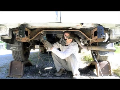 Frame Rust Clean Up, Paint, Fluid Film - Corrosion Protection