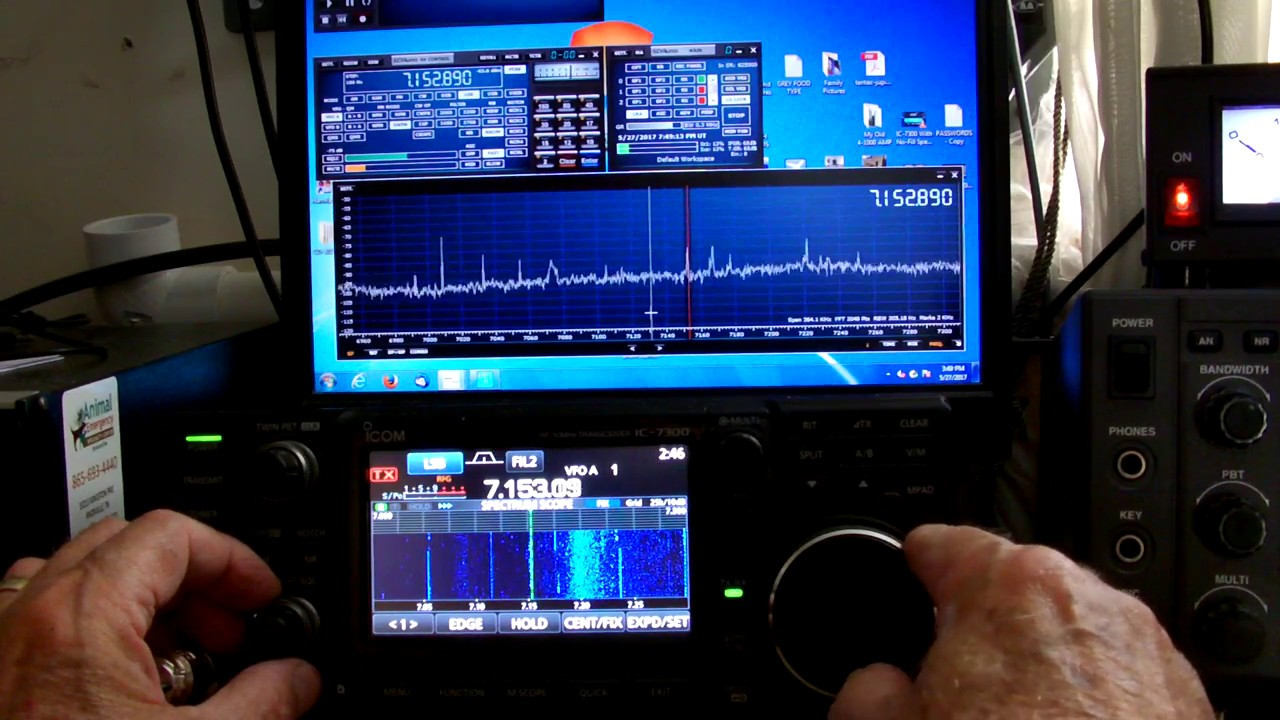 Icom 7300 using N4py Icom Software with SDRPLAY RUNO Software for PANADAPTER