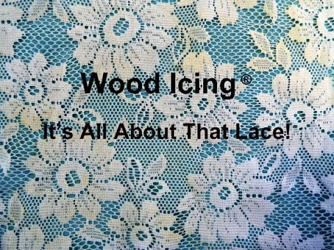 """Wood Icing® Textura Paste """"Raised Relief & Pressed Lace"""""""
