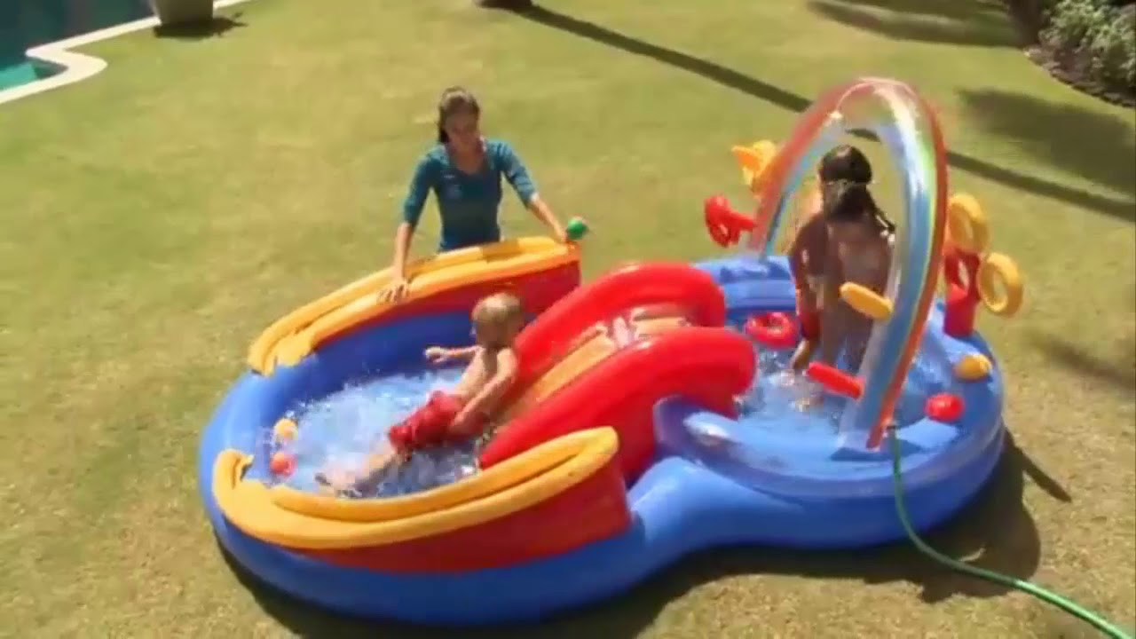 Alberca inflable para ni os intex resbaladilla arcoiris for Tobogan piscina ninos