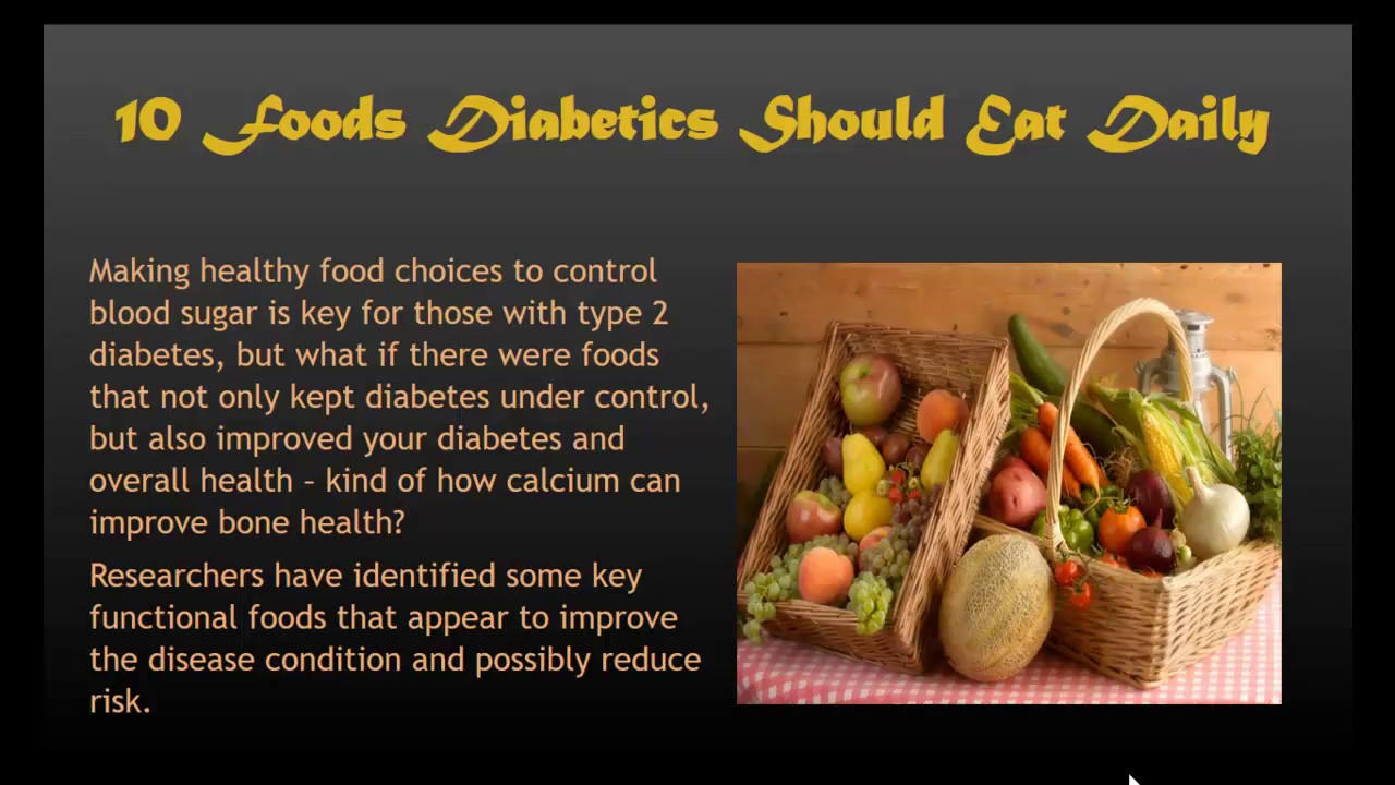 10 Foods Diabetics Should Eat Daily Youtube