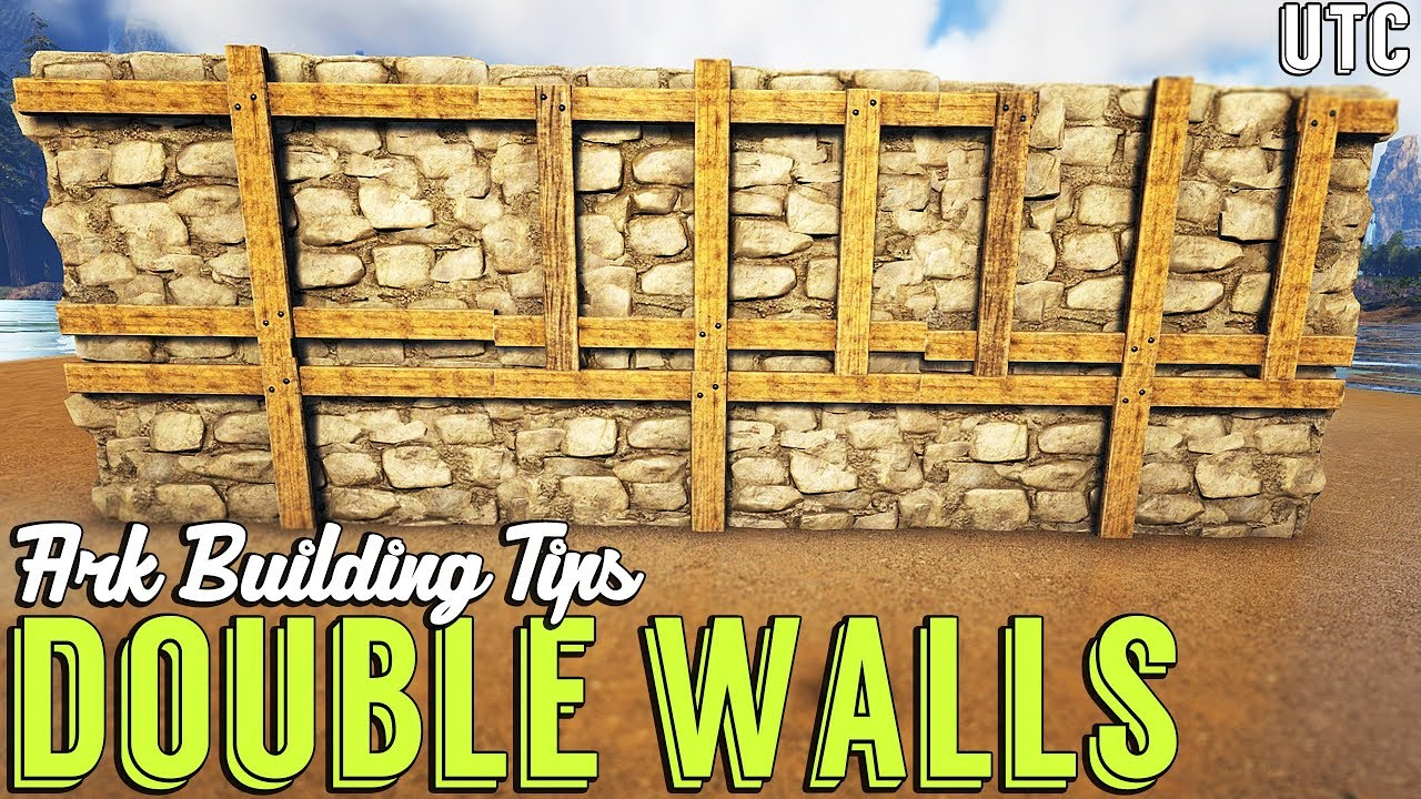 How To Double Layer Walls Ark Building Tip 6 Upside Down