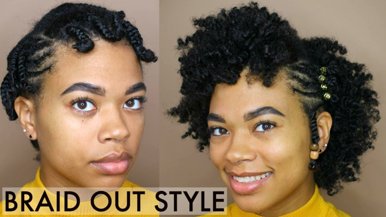 Style For Hair: SIMPLE Braid-Out Style For SHORT Natural Hair