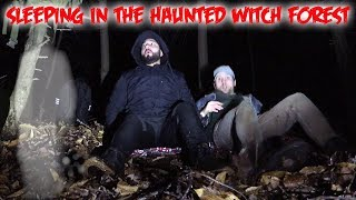 24 HOUR OVERNIGHT CHALLENGE IN THE HAUNTED WITCH FOREST! BLAIR WITCH FOREST OF CANADA!!