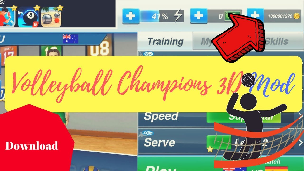 Volleyball Champions 3D Mod Apk Download
