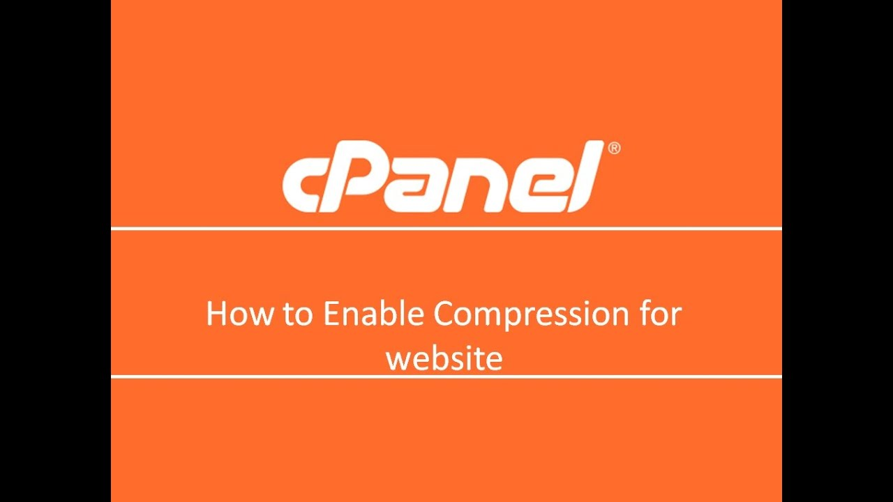 How to enable gzip compression on cpanel websites