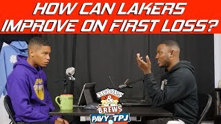 How Can Lakers & Lebron Improve on Trailblazers Loss | Hoops N Brews