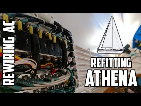 Sail Life - Rewiring the AC, distribution panel & ring termi