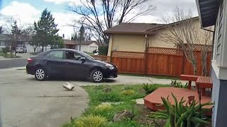 Caught on Camera: Amazon Delivery Driver Tosses Package from Car
