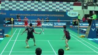 Victor Korea Open 2016 | Badminton R16 MD | Lee Yong Dae/Yoo Yeon Seong vs Liu Xiaolong/Lu Kai