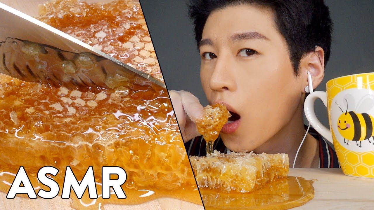 Asmr Raw Honeycomb No Talking Sticky Relaxing Eating Sounds Zach Choi Asmr