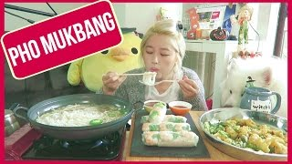 PHO & FRESH SPRING ROLLS [쌀국수] MUKBANG | KEEMI
