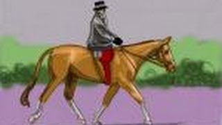How to draw a person riding a horse