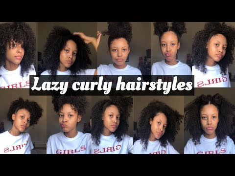LAZY CURLY HAIRSTYLES