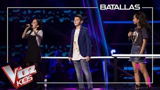 Victoria, Berta y Maksym cantan 'Beauty and the Beast' | Batallas | La Voz Kids Antena 3 2019