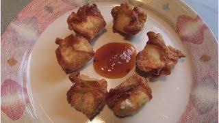 Homemade..crab Rangoons