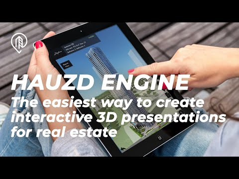 Hauzd engine | The easiest way to create interactive 3D presentations for real estate