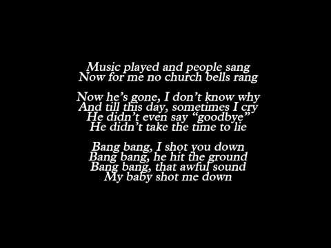 Lady Gaga - Bang Bang (My Baby Shot Me Down) (Lyrics)