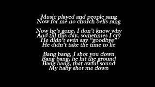 Lady Gaga - Bang Bang (My Baby Shot Me Down) (Lyrics)