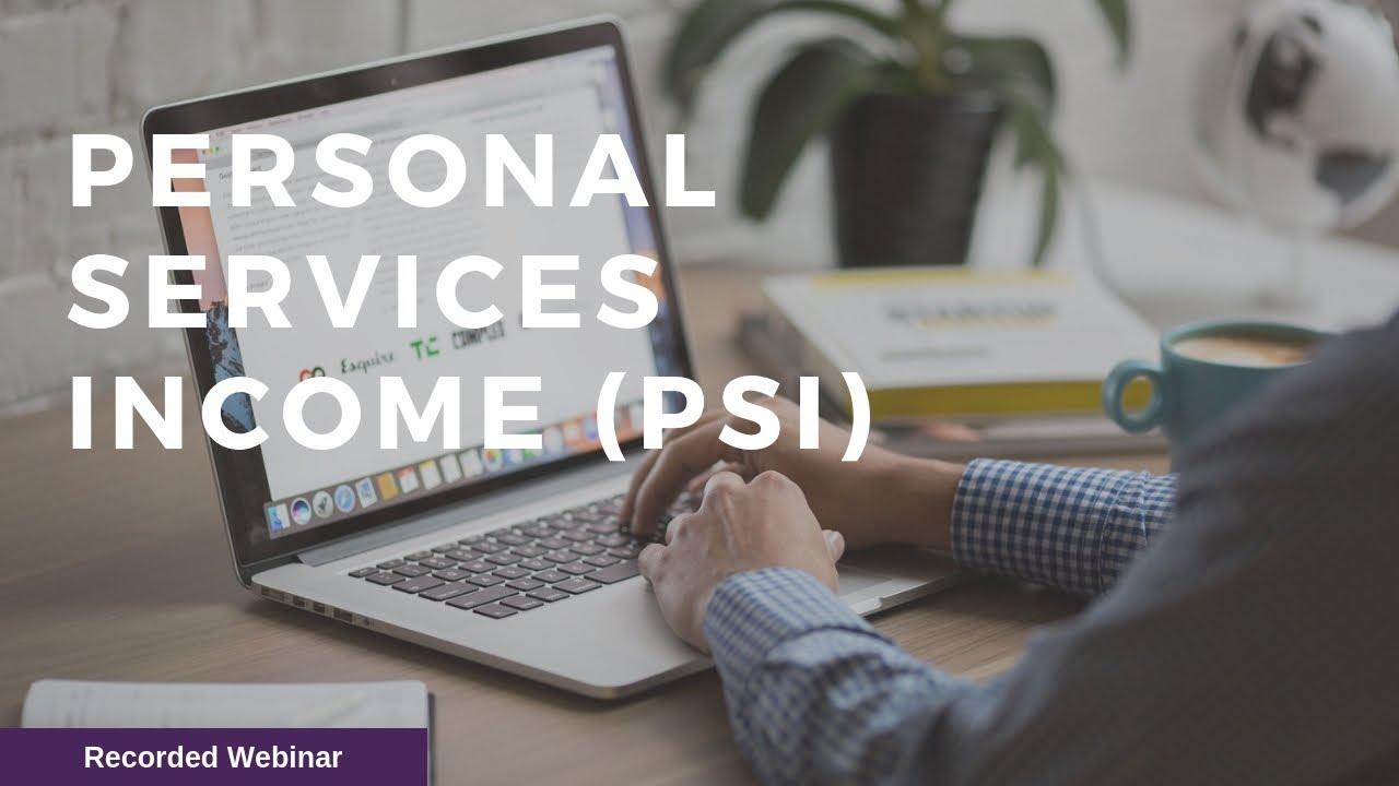 Personal Service Income Psi