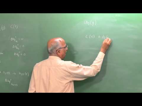 Mod-01 Lec-13 Energy Release in a Chemical Reaction:  Moles, Internal Chemical Energy