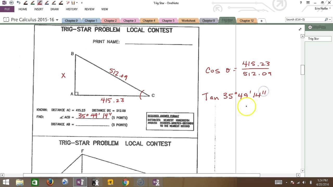 TRIG STAR Pre Calc - YouTube