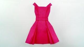 Origami dress / พับชุดกระโปรง