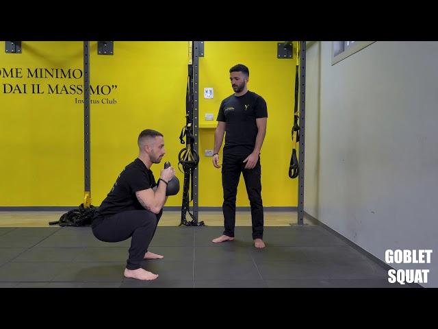 Goblet squat. Esecuzione e tecnica