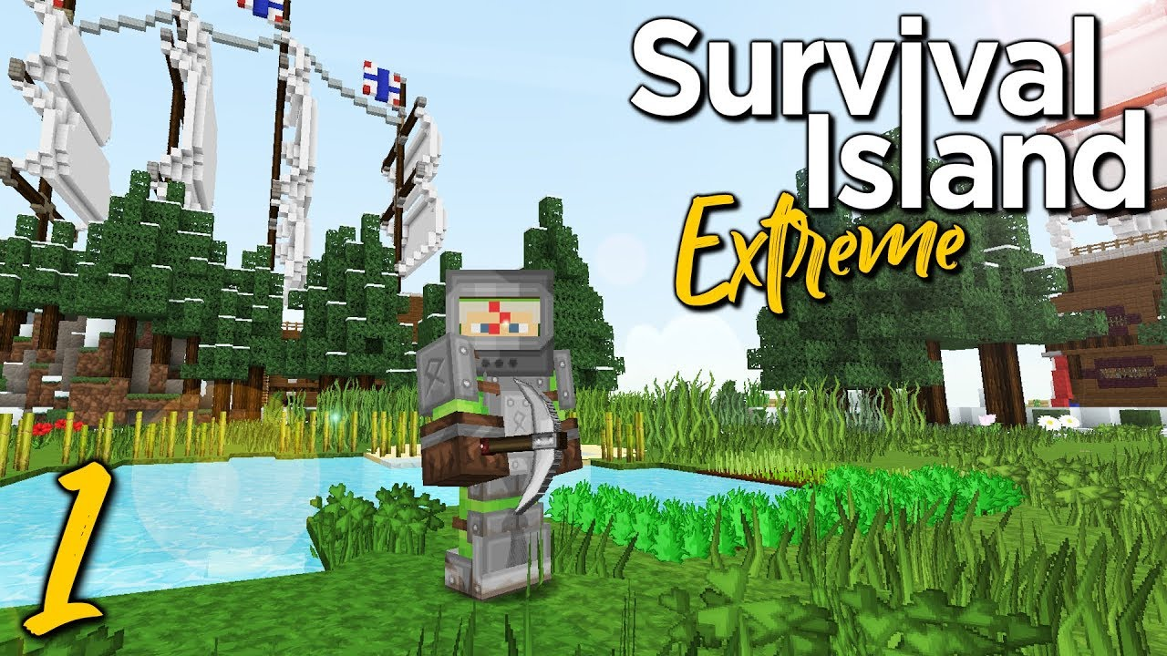 Survival Island Extreme STARTING OUT Minecraft - Mapas survival para minecraft 1 11 2