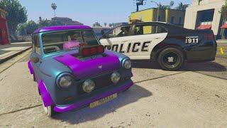 POLICIAS vs LADRONES! MUY ÉPICO!! - GTA V ONLINE