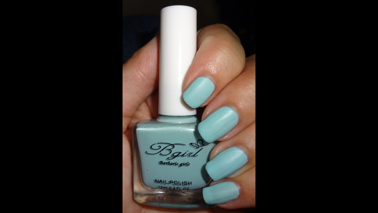 Born Pretty Store Frosted Matte Nail Polish - Light Blue - YouTube