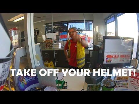 Helmet in a Petrol Station | Winnie Rider Response | Funny vlog