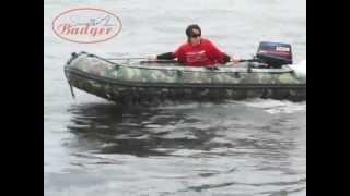ПВХ лодка Баджер HL 370 с мотором 15 л.с.
