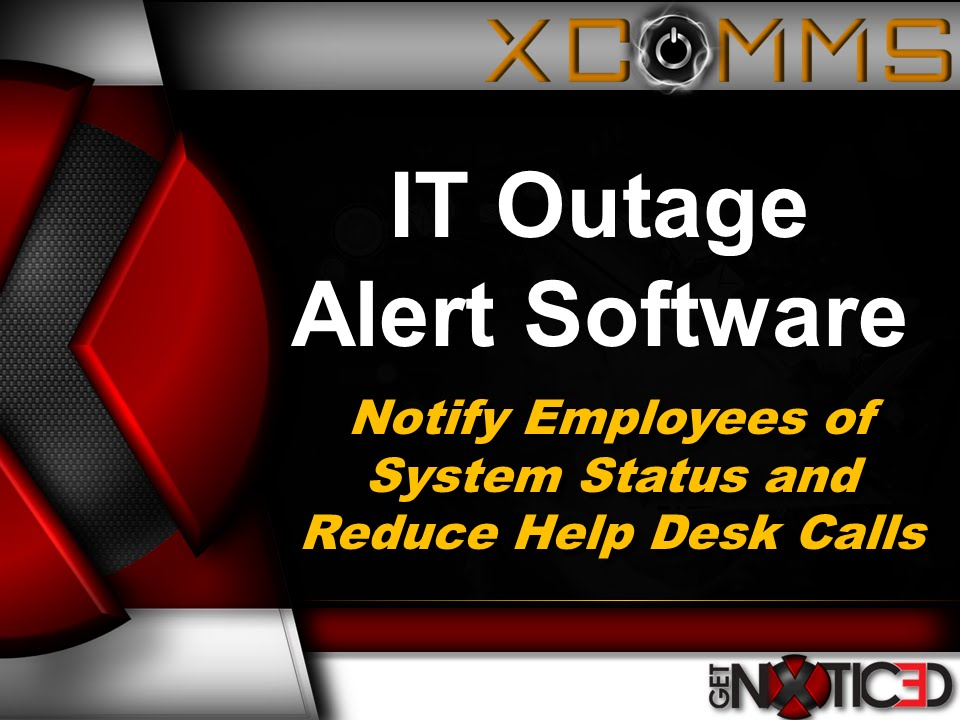 how to send notify employees of system outages and reduce