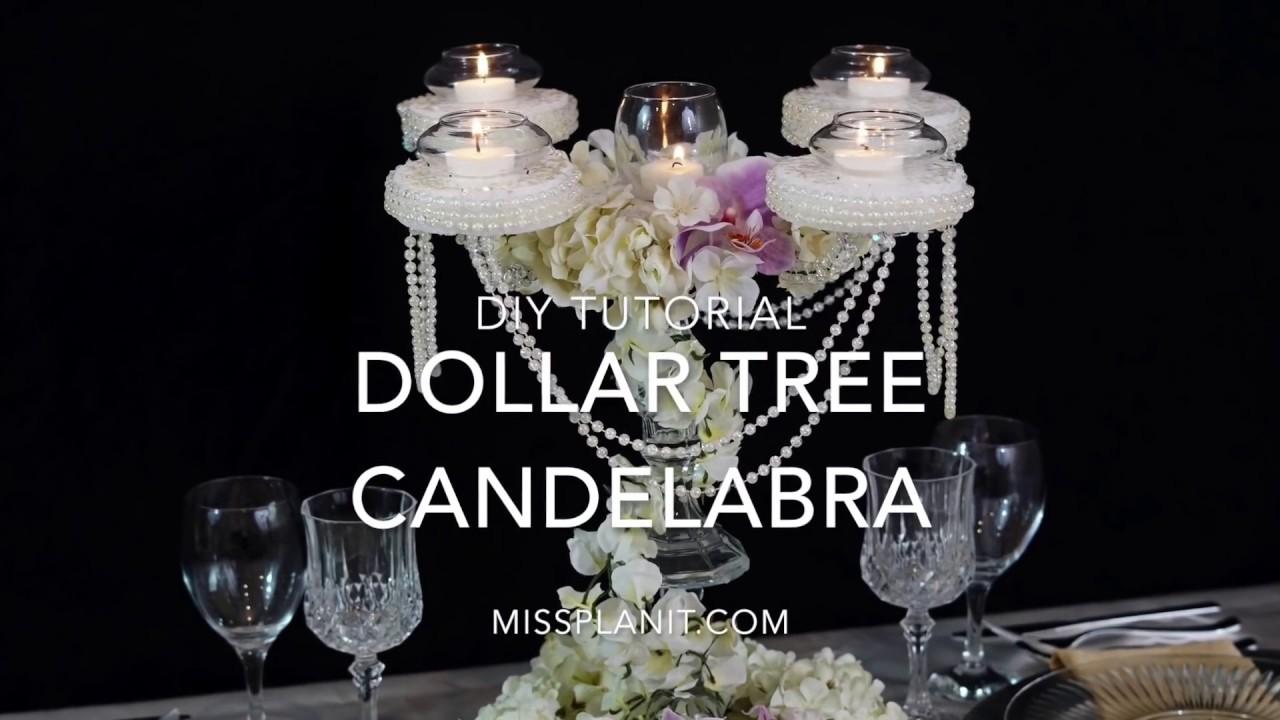 Dollar Tree Inspired Candelabra Centerpiece Diy Elegant Weddings Tutorial