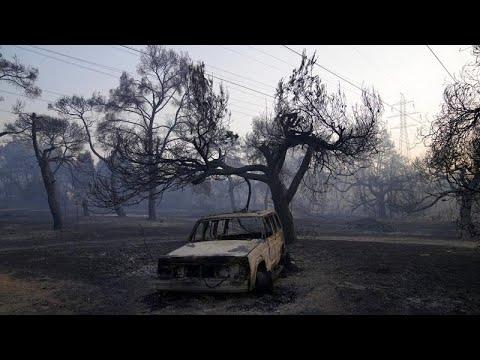 شاهد: محاولات مضنية للسيطرة على الحرائق المستمرة في اليونان…  - نشر قبل 4 ساعة
