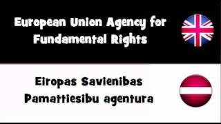 TRANSLATE IN 20 LANGUAGES = European Union Agency for Fundamental Rights