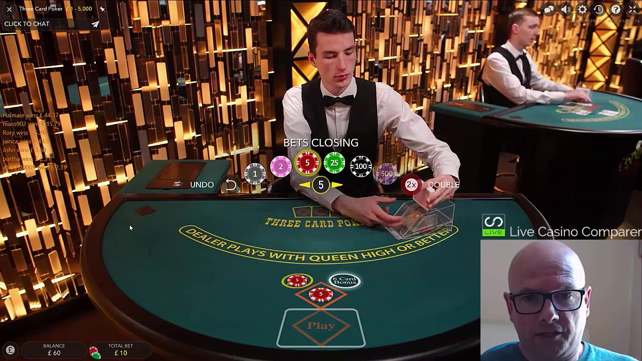 Live 3 Card Poker Review Youtube
