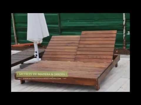 Camastros muebles de madera y jard n com youtube for Galpon de madera para jardin