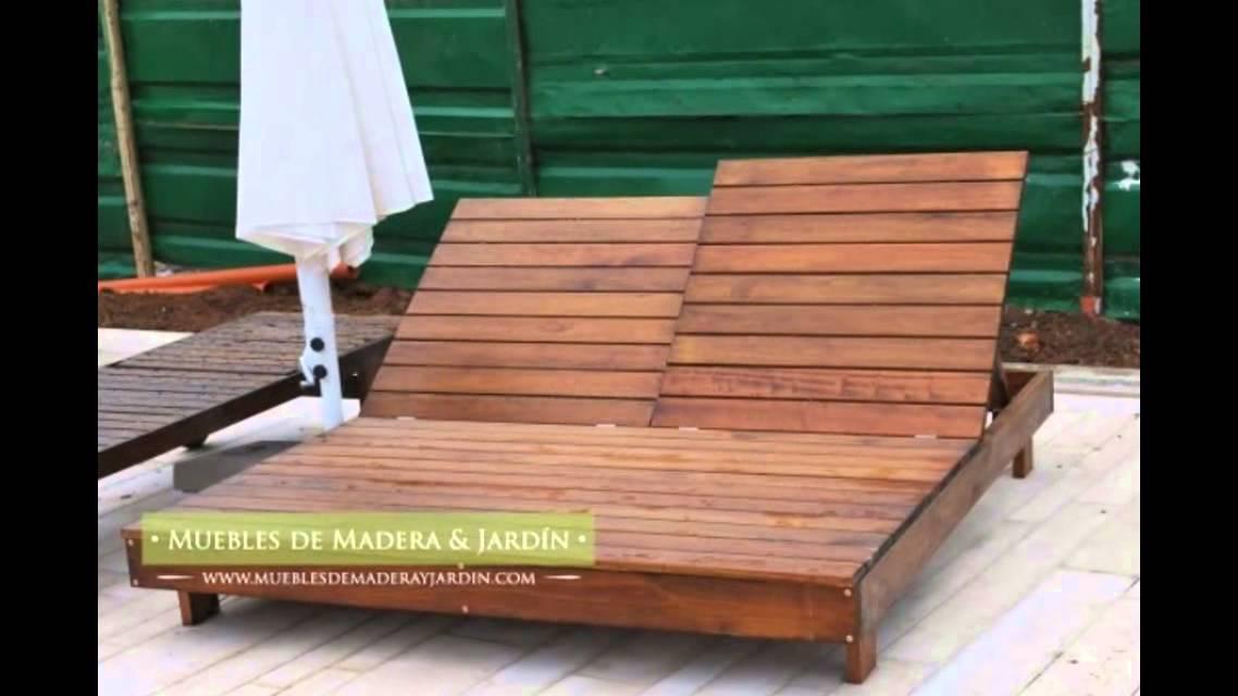 Camastros muebles de madera y jard n com youtube for Muebles para jardin en madera