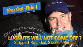 How To Remove a Lขg Nut That Will Not Come Off! Spinning, Swollen, Stripped, Seized, Rusted Ford 150